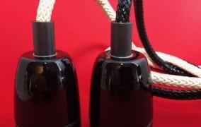 fil électrique recouvert d'une tresse plastique