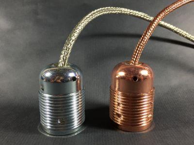 Douilles E27 cuivre et acier