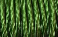 Câble électrique tissu vert