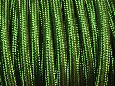 fil electrique textile vert