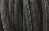 Câble électrique tissu coton noir