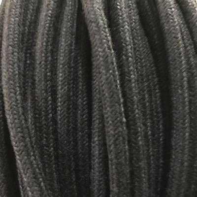 câble électrique coton noir