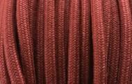 Câble électrique tissu coton rouge