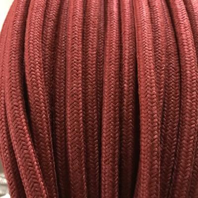 fil électrique tissu coton rouge