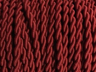 fil electrique tissu marsala torsade