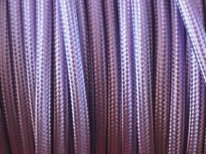 fil electrique tissu parme