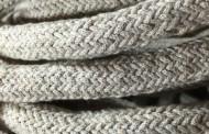 Câble électrique tissu grosse section lin