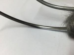 Nettoyage à sec sur métal légèrement oxydé