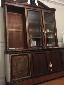 autre ralisation sur ce petit meuble tiroir et plateaux gris nue pieds gris gustavien
