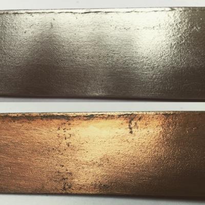 patine cuivre sur fer