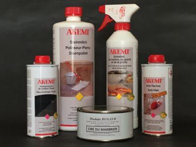 produits pour entretien du marbre